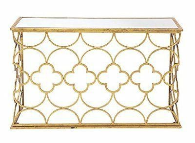 Deco 67050 Metal Mirror Console Table- 49 by 31-Inch