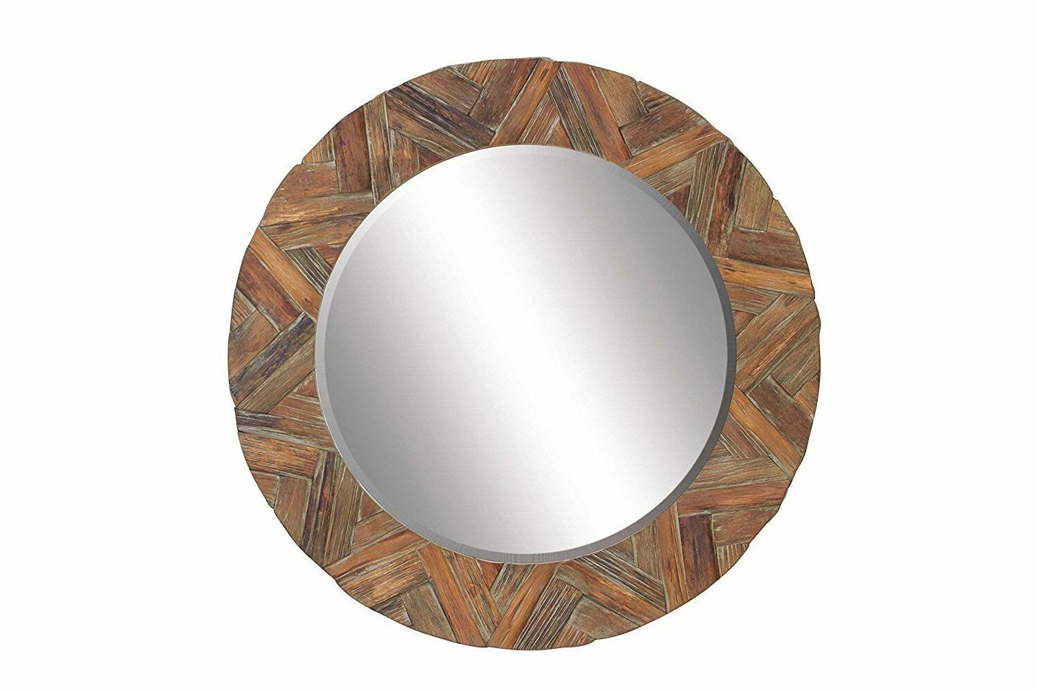 76139 wood wall mirror 49 inch