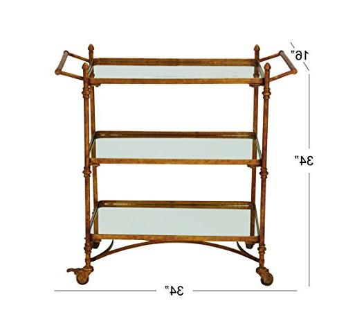 Deco 87441 Metal & Mirror bar Cart