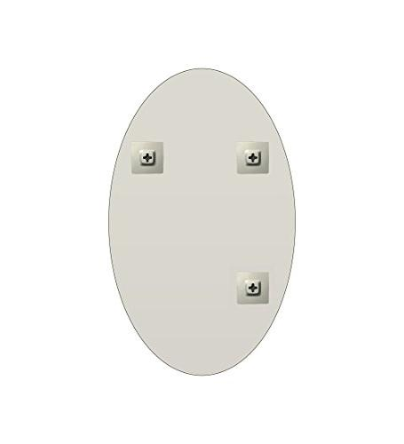"Fab and Oval Beveled Frameless Wall Hooks, 22"" x 30"", White"