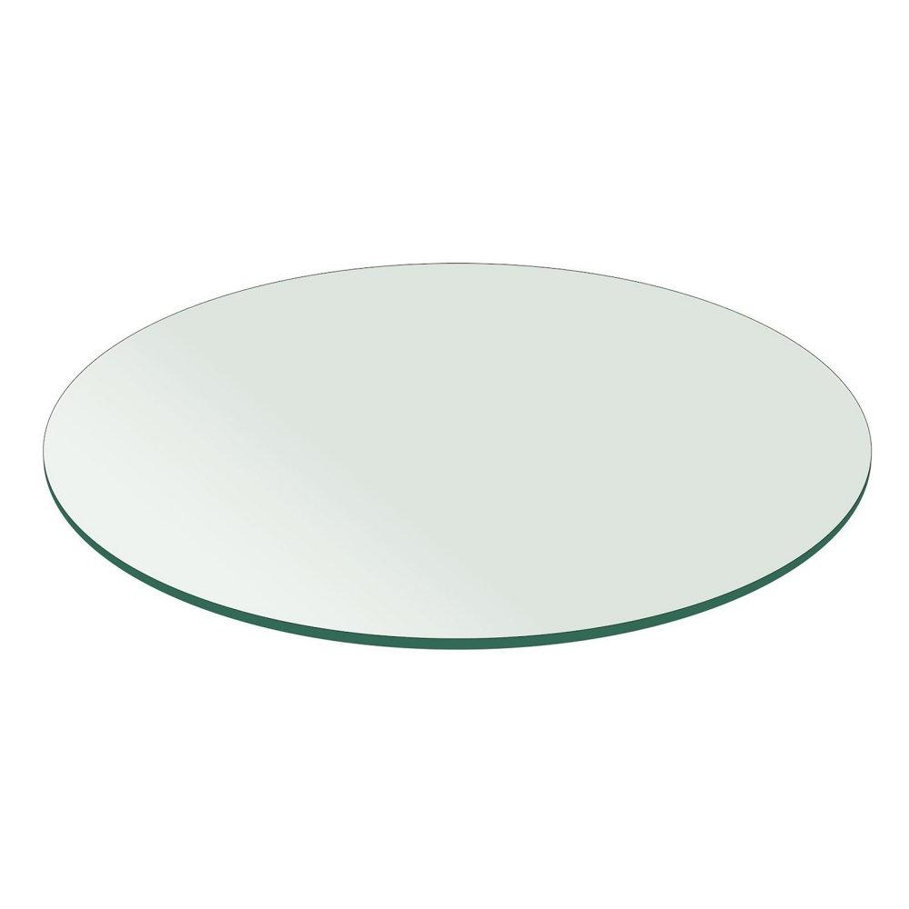 Fab Glass and Mirror Round 0.25 in. Thick Flat Polish Temper