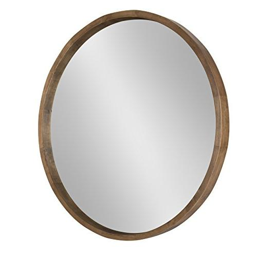 "Kate and Laurel Hutton Accent Mirror, 30"" Diameter, Rustic B"