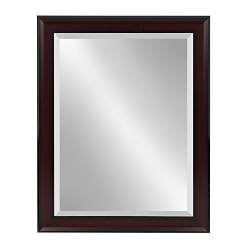 Kate and Laurel Scoop Framed Beveled Wall Mirror, 22x28, Che