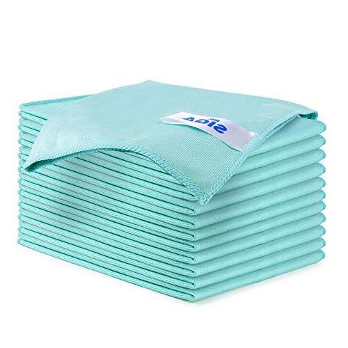 MR.SIGA Ultra Fine Microfiber Cloths for Glass, Pack of 12,