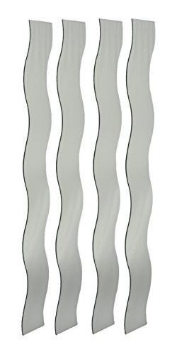 Mirrotek Set of 4 Wavy Strip Decorative Customizable Wall Mo