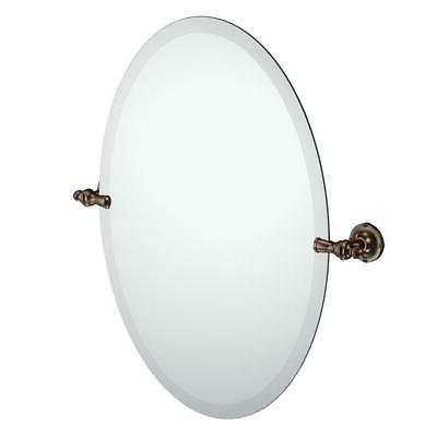 Moen DN0892ORB Gilcrest Bathroom Oval Tilting Mirror, Oil Ru