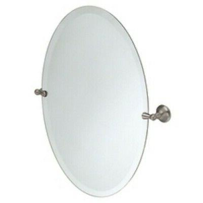 Moen DN6892BN Sage Bathroom Oval Tilting Mirror, Brushed Nic