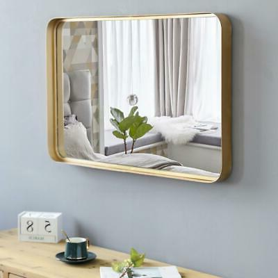 Antique Wall Mirror Rectangle Metal Mirror for Vanity