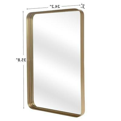 Antique Gold Wall Mirror Metal Mirror for Vanity