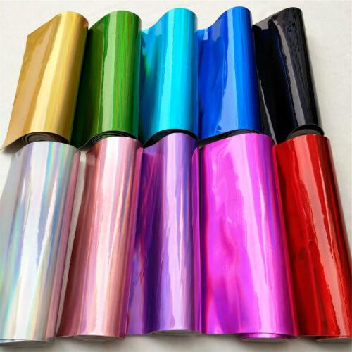 assorted 10pcs iridescent holographic mirrored faux leather