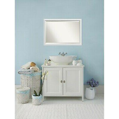 Bathroom Mirror Large, Blanco White 40 28-inch 28 x 0.96