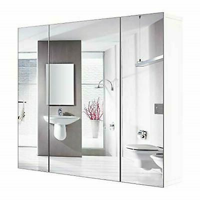 bathroom wall mirror cabinet 3 mirror door