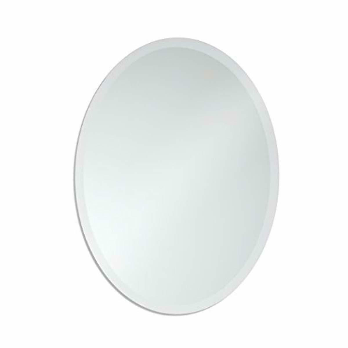 beveled oval wall makeup mirror small frameless