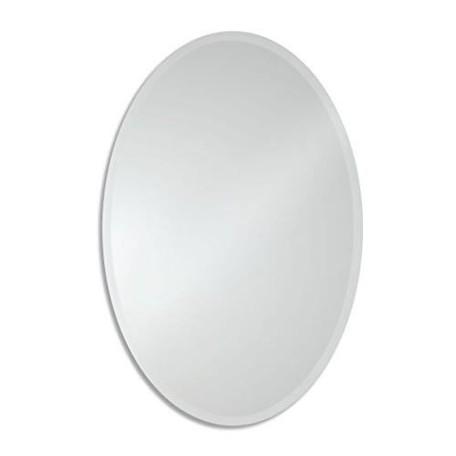 beveled oval wall mirror 17101