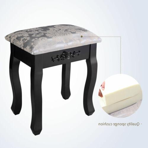 3 Mirror 7 Vanity Makeup Wood Stool