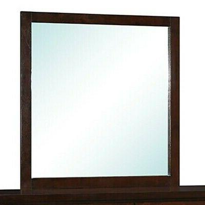 cameron square mirror in rich brown