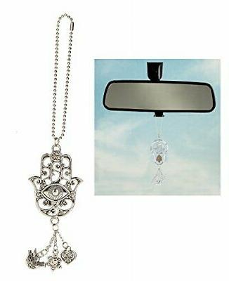 Car Charm Ornament - HAMSA - Hang from Your Rear View Mirror