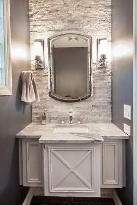 chrome bathroom arched metal wall mirror large
