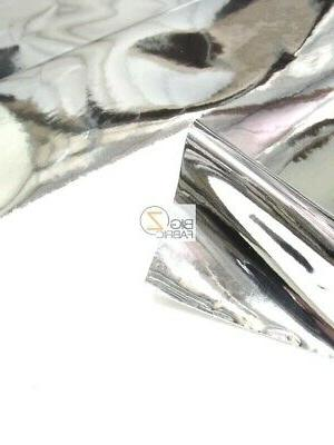 CHROME MIRROR REFLECTIVE FABRIC - BY