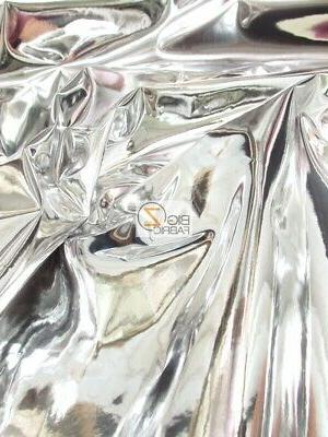 chrome mirror reflective vinyl fabric silver by