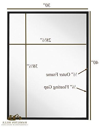 Modern Black Mirror Premium Silver Panel | or Bathroom | Rectangle Horizontal Vertical
