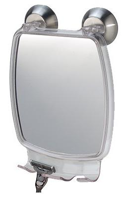 InterDesign Clear Forma Power Lock Suction Fog-Free Mirror