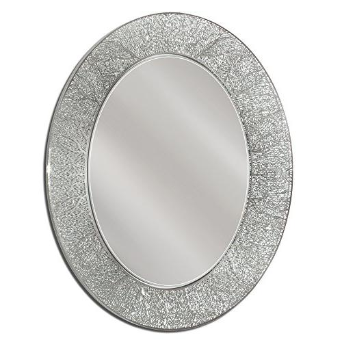 coral oval mirror