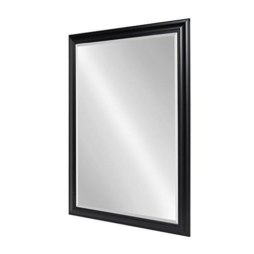Kate and Framed Beveled Wall Mirror, 28x40, Black