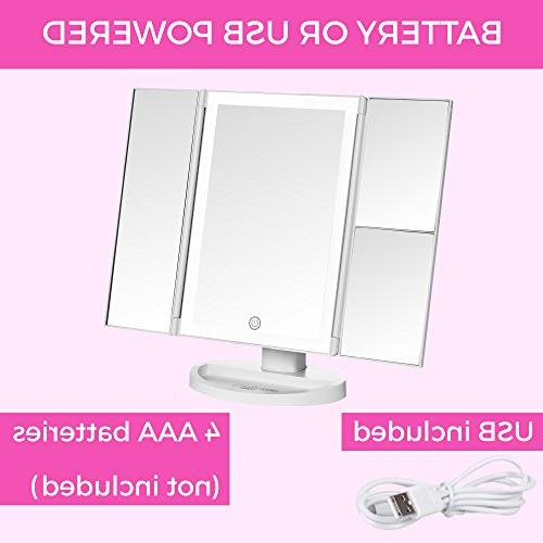 Absolutely Makeup Mirror Vanity Mirror Lights, Touch Dimming, Magnification Definition Up Mirror