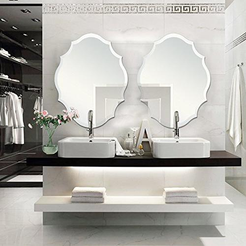 MIRROR TREND Emma Shaped Frameless Mirror Solid Core
