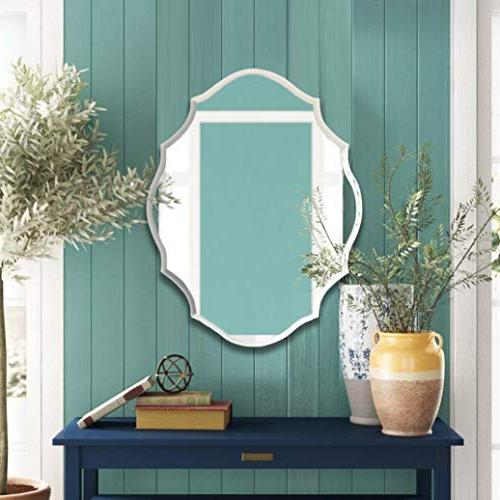 MIRROR Frameless Beveled Mirror with Solid Wood