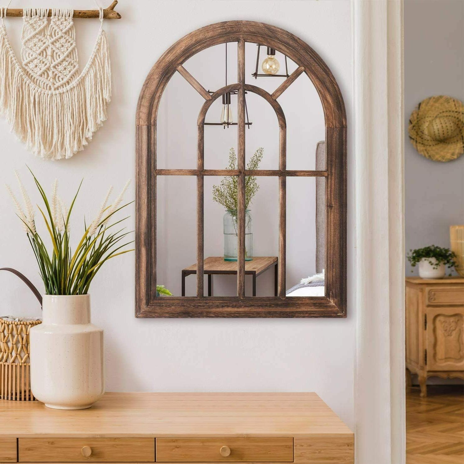 Fashion Mirror Rustic Arched Wall New