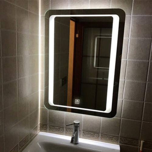 Fogless Bathroom Lighted Vanity Wall Makeup Dimmer Touch Button