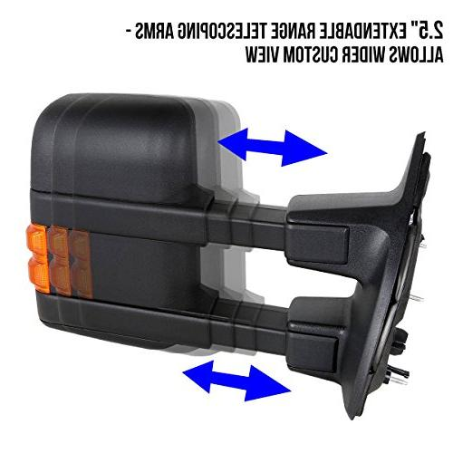 For Super Duty Pair Powered Glass + Extenable Side