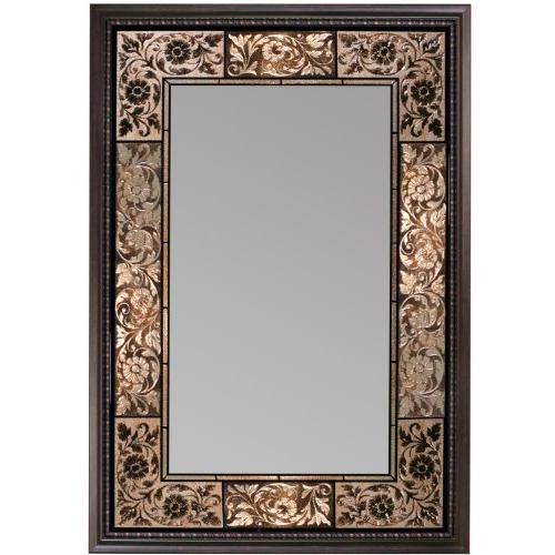 french tile mirror