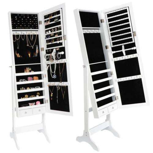 Full Length Jewelry Cabinet Armoire