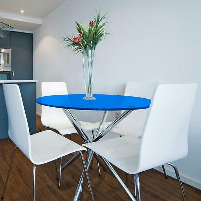 """Glass Table Top: 30"""" Blue Round 3/8"""" Tempered"""