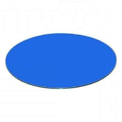 glass table top 30 blue round back