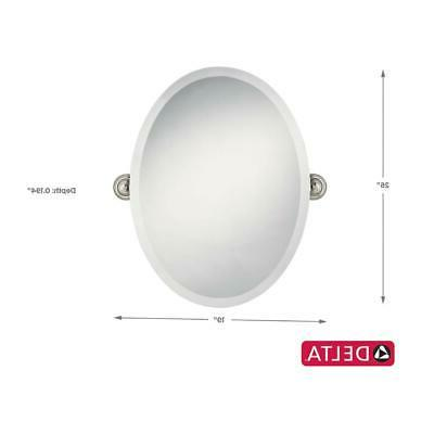 Delta Greenwich 24 x Oval Bathroom Mirror Nickel
