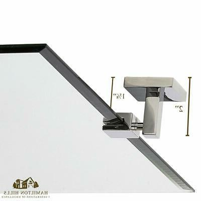 Hamilton Hills Large Squared Modern Rectangle Mirror with Polished