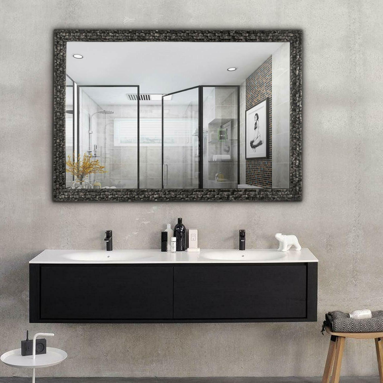 hans and alice rectangular wall mounted mirror