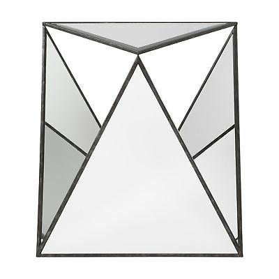 hilaire mirror and mdf and metal accent