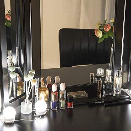 Chende LED with Dimmable Bulbs, Lighting Makeup Vanity Table in