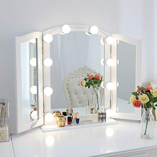 Chende Hollywood Vanity with Bulbs, Lighting for Makeup in Dressing