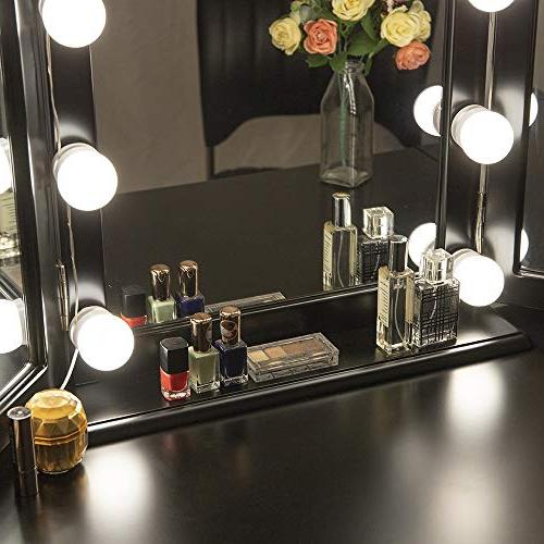 Chende Hollywood Style Vanity with Dimmable Light Lighting Makeup in Dressing Room