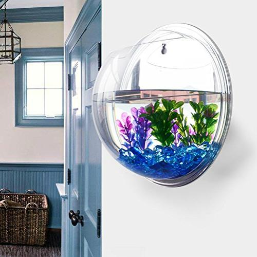 Kathson Decoration Wall Mount Aquarium Fish Aquarium