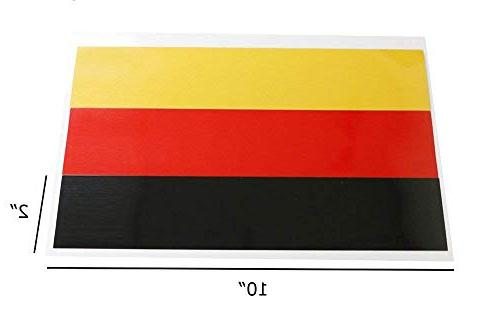 """iJDMTOY (1 10"""" Germany Flag Color Stripe Decal Sticker For E"""