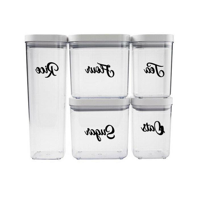 kitchen container labels oxo container labels canister