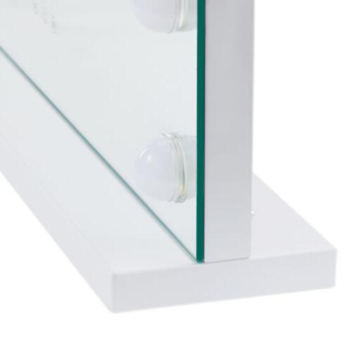 Large Frameless Makeup Mirror w Dimmable Vanity