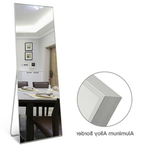 large mirror leaning leaning wall floor dressing